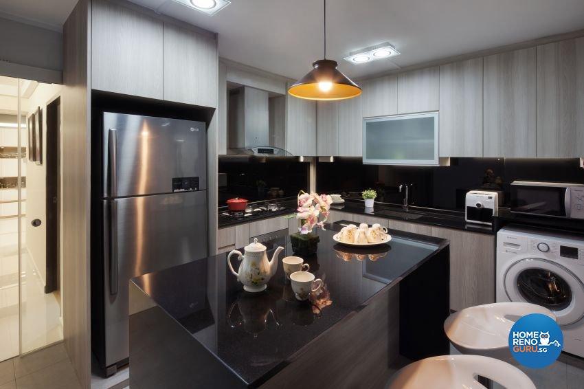 Minimalist, Modern Design - Kitchen - HDB 5 Room - Design by De Style Interior Pte Ltd