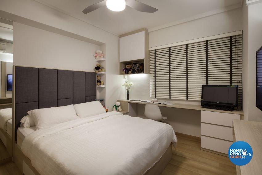 Minimalist, Modern Design - Bedroom - HDB 5 Room - Design by De Style Interior Pte Ltd