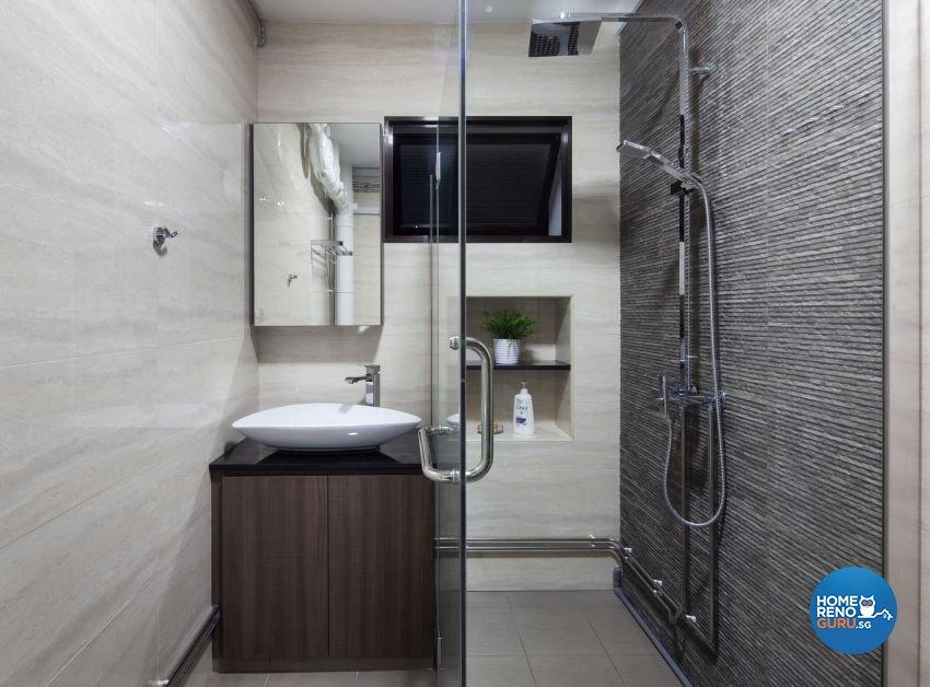 Minimalist, Modern Design - Bathroom - HDB 5 Room - Design by De Style Interior Pte Ltd