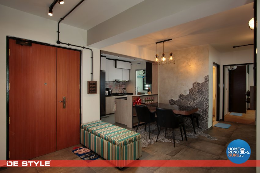 Contemporary, Industrial, Vintage Design - Dining Room - HDB 4 Room - Design by De Style Interior Pte Ltd