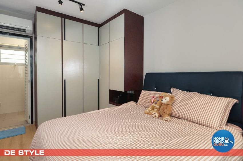 Contemporary, Industrial, Vintage Design - Bedroom - HDB 4 Room - Design by De Style Interior Pte Ltd