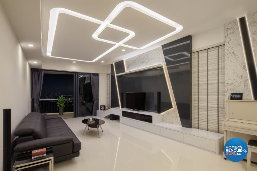 Modern Design - Living Room - Condominium - Design by De Style Interior Pte Ltd