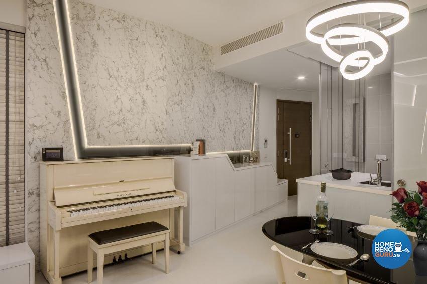 Modern Design - Dining Room - Condominium - Design by De Style Interior Pte Ltd