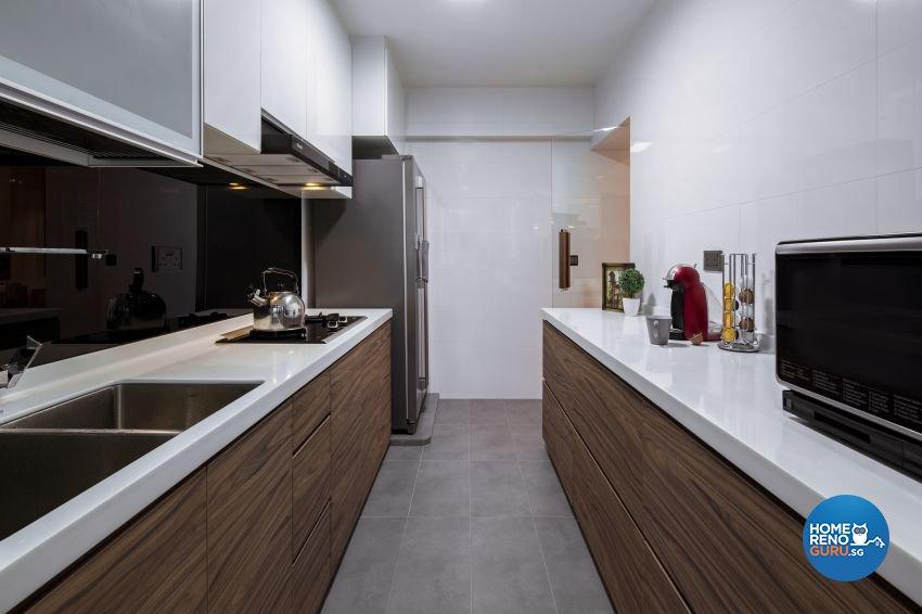 Contemporary Design - Kitchen - HDB 4 Room - Design by De Style Interior Pte Ltd