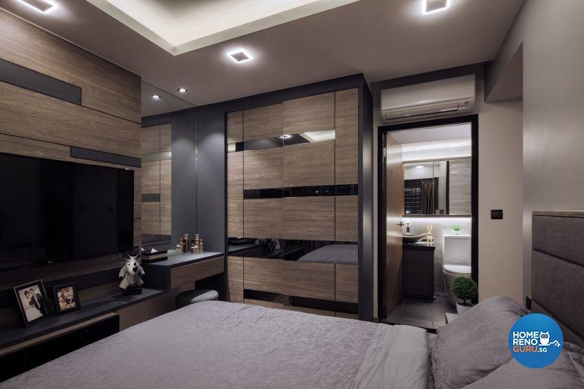 Contemporary Design - Bedroom - HDB 4 Room - Design by De Style Interior Pte Ltd