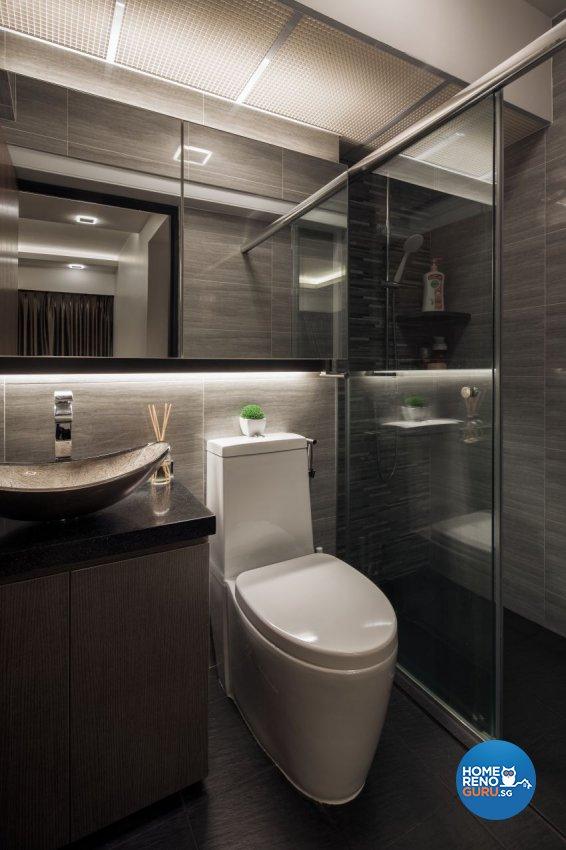 Contemporary Design - Bathroom - HDB 4 Room - Design by De Style Interior Pte Ltd
