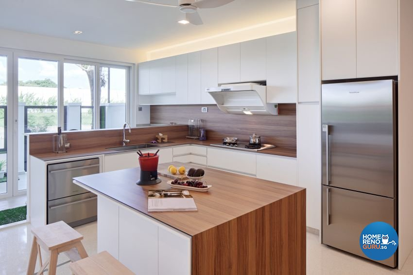 Scandinavian Design - Kitchen - Landed House - Design by De Style Interior Pte Ltd