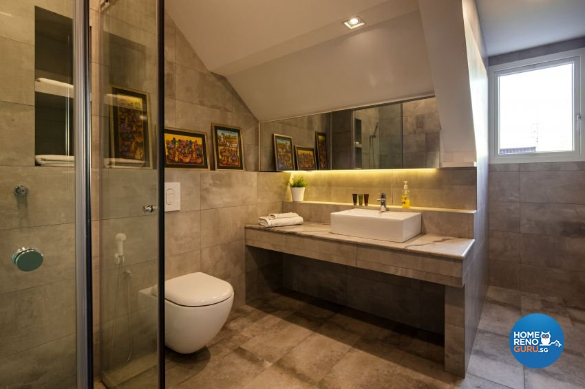 Scandinavian Design - Bathroom - Landed House - Design by De Style Interior Pte Ltd