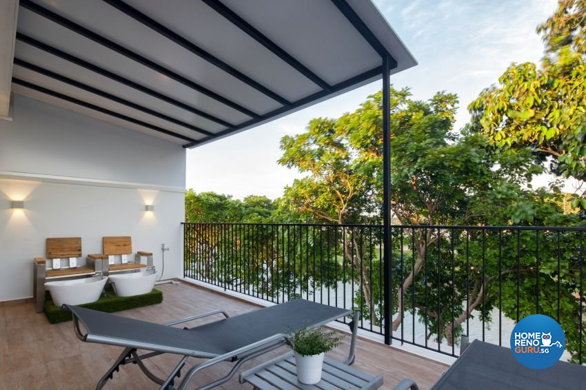 Scandinavian Design - Balcony - Landed House - Design by De Style Interior Pte Ltd