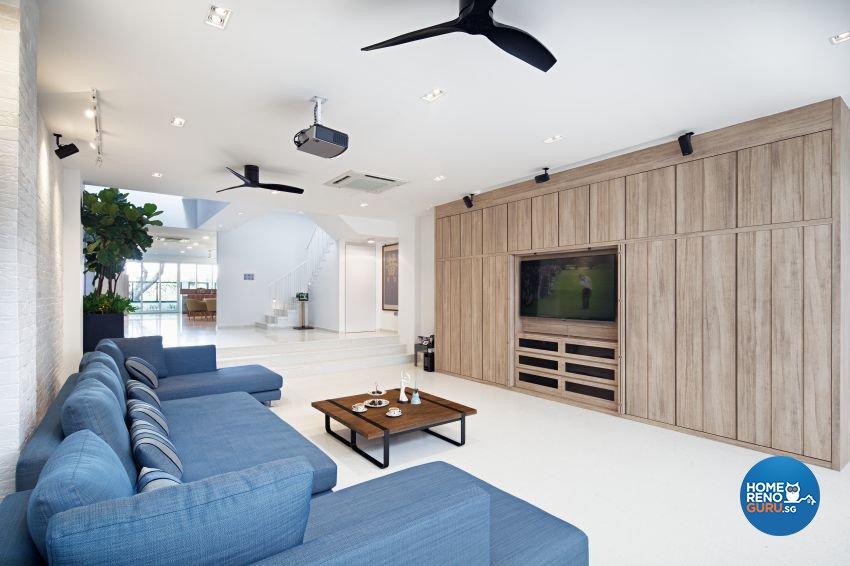 Scandinavian Design - Living Room - Landed House - Design by De Style Interior Pte Ltd