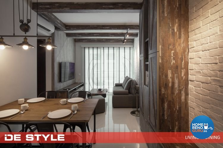 Country, Modern Design - Dining Room - Condominium - Design by De Style Interior Pte Ltd