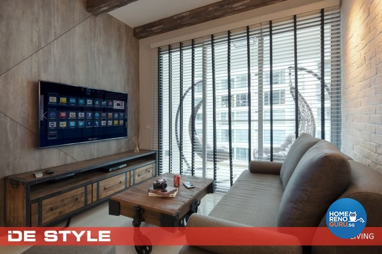Country, Modern Design - Living Room - Condominium - Design by De Style Interior Pte Ltd