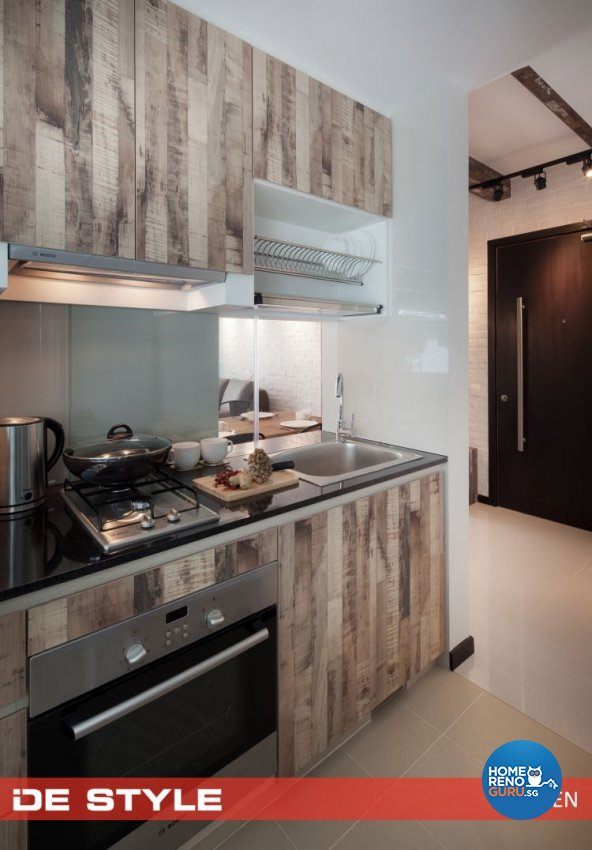 Country, Modern Design - Kitchen - Condominium - Design by De Style Interior Pte Ltd