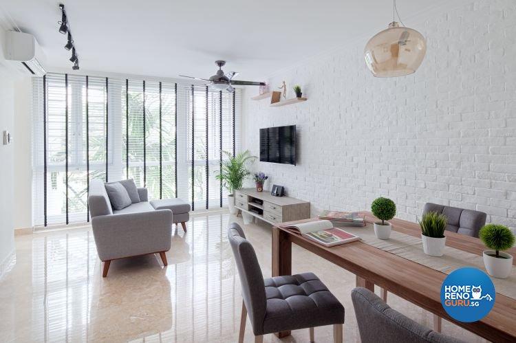 Contemporary, Scandinavian Design - Living Room - Condominium - Design by De Style Interior Pte Ltd