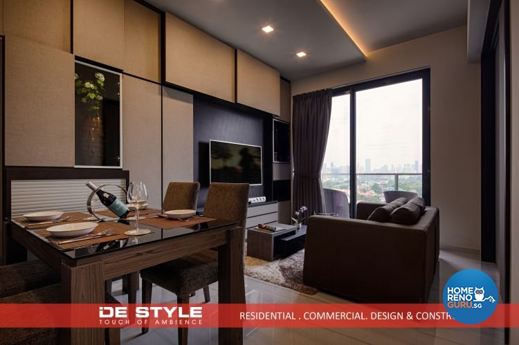 Contemporary, Modern Design - Living Room - Condominium - Design by De Style Interior Pte Ltd