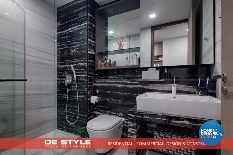Contemporary, Modern Design - Bathroom - Condominium - Design by De Style Interior Pte Ltd