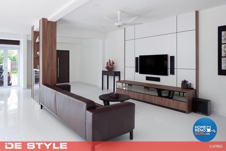 Modern Design - Living Room - Landed House - Design by De Style Interior Pte Ltd