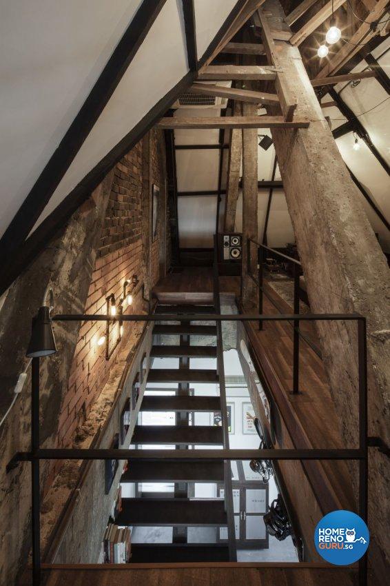Industrial, Rustic Design - Balcony - HDB 3 Room - Design by De Style Interior Pte Ltd