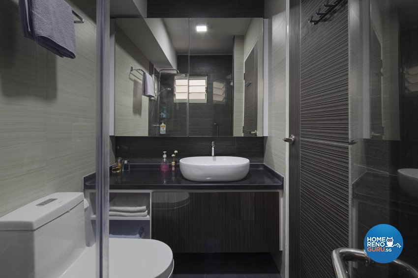 Modern Design - Bathroom - HDB 3 Room - Design by De Style Interior Pte Ltd