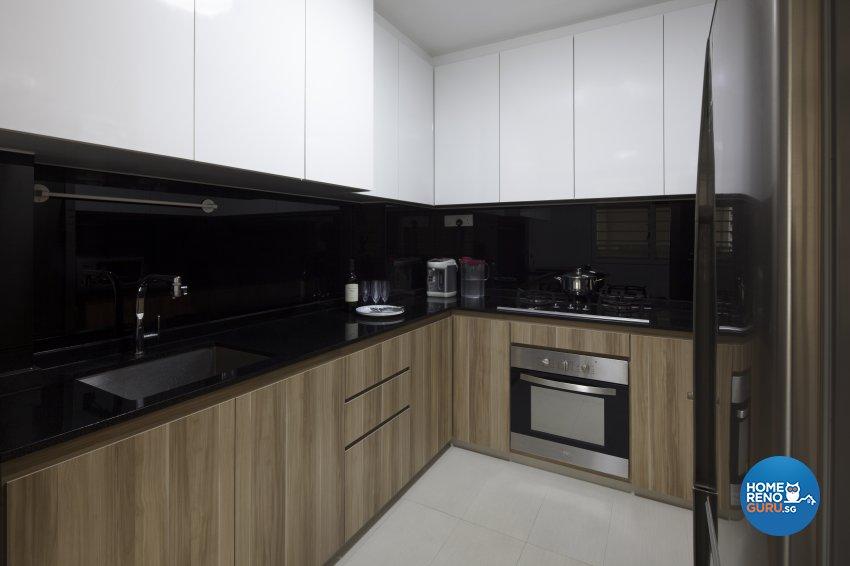 Modern Design - Kitchen - HDB 3 Room - Design by De Style Interior Pte Ltd