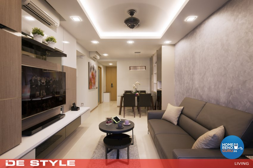 Modern Design - Living Room - HDB 4 Room - Design by De Style Interior Pte Ltd