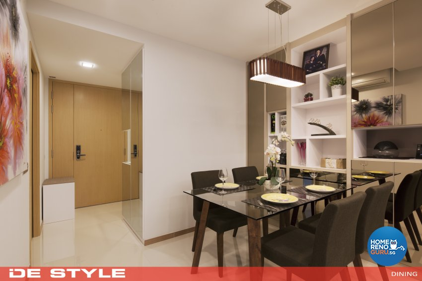 Modern Design - Dining Room - HDB 4 Room - Design by De Style Interior Pte Ltd