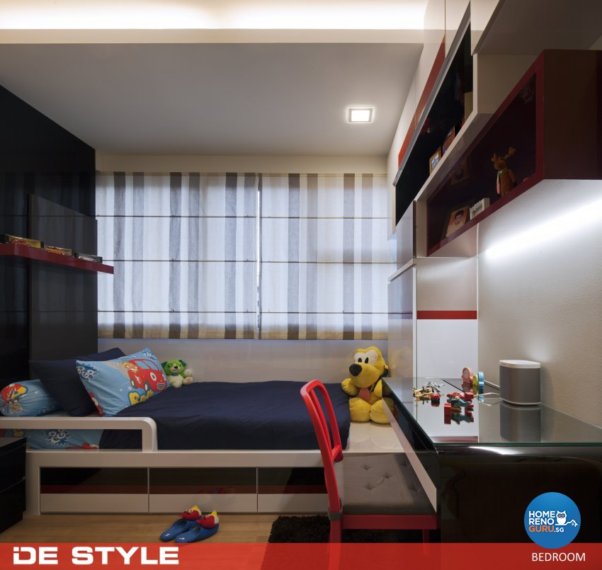Modern Design - Bedroom - HDB 4 Room - Design by De Style Interior Pte Ltd