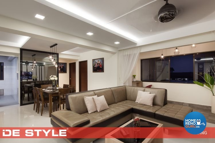 Contemporary, Modern Design - Living Room - HDB 5 Room - Design by De Style Interior Pte Ltd