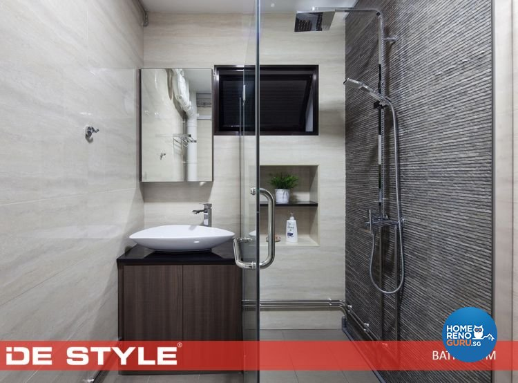 Contemporary, Modern Design - Bathroom - HDB 5 Room - Design by De Style Interior Pte Ltd