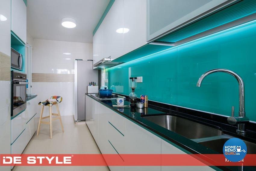 Modern, Vintage Design - Kitchen - HDB 5 Room - Design by De Style Interior Pte Ltd