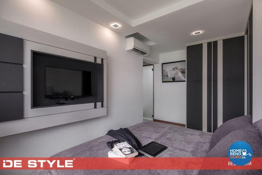 Modern, Vintage Design - Bedroom - HDB 5 Room - Design by De Style Interior Pte Ltd