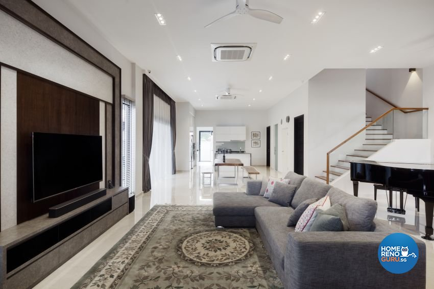 Minimalist Design - Living Room - Landed House - Design by De Style Interior Pte Ltd