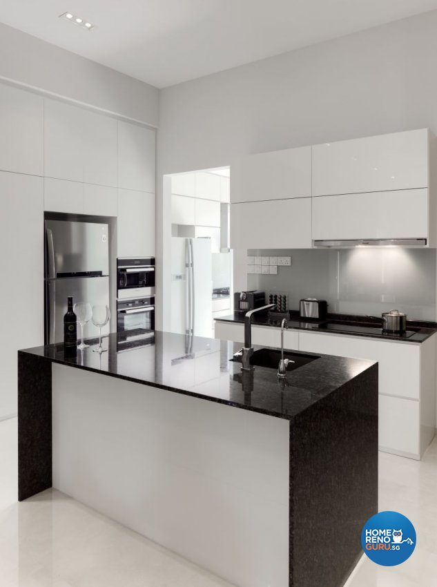 Minimalist Design - Kitchen - Landed House - Design by De Style Interior Pte Ltd
