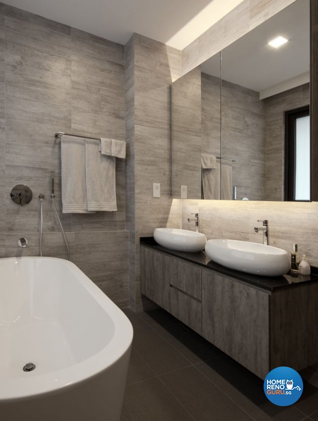 Minimalist Design - Bathroom - Landed House - Design by De Style Interior Pte Ltd