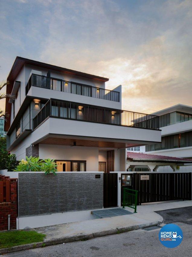 Minimalist Design - Garden - Landed House - Design by De Style Interior Pte Ltd