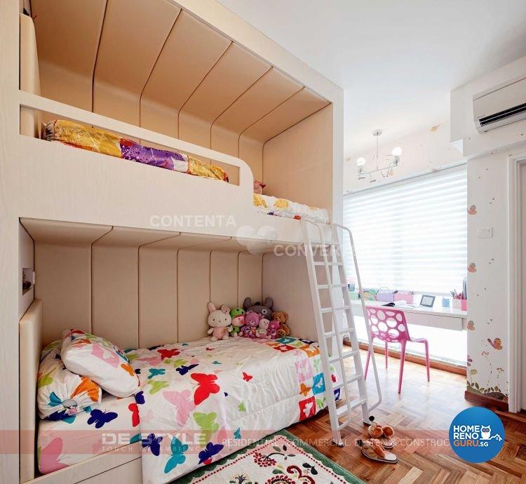 Contemporary, Modern Design - Bedroom - HDB 5 Room - Design by De Style Interior Pte Ltd