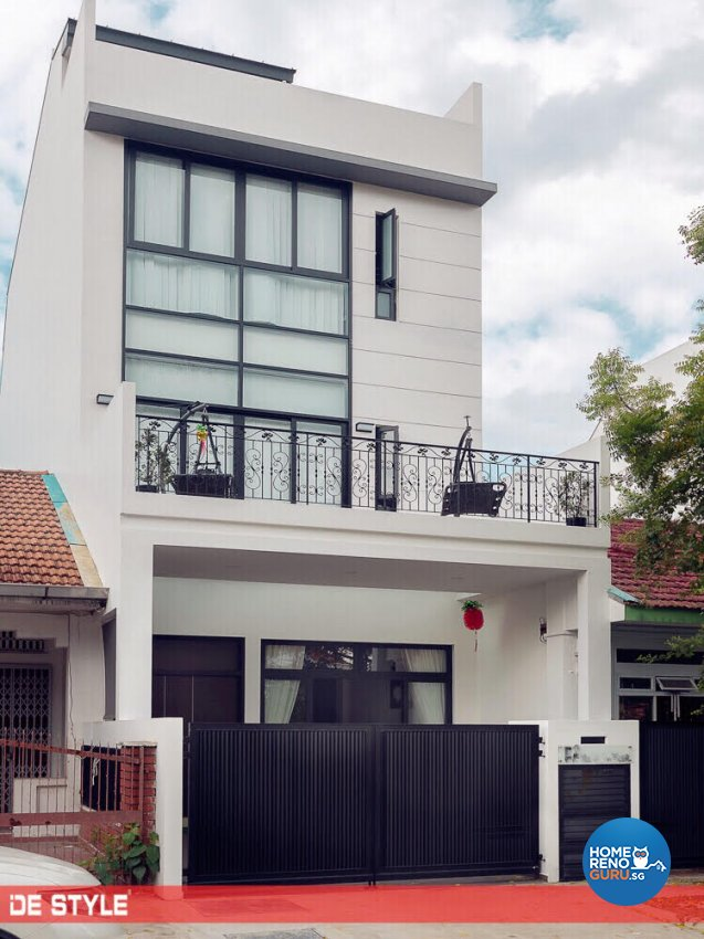 Contemporary, Modern Design - Balcony - Landed House - Design by De Style Interior Pte Ltd