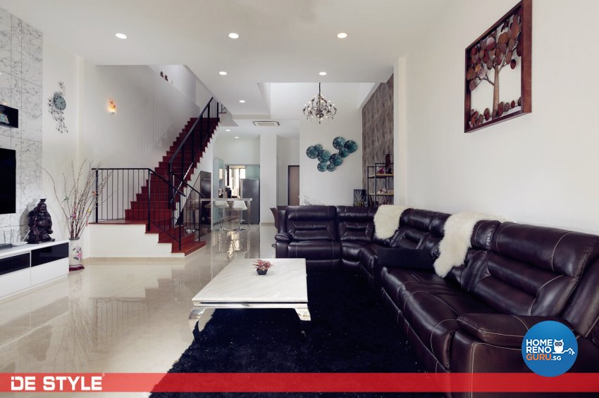 Contemporary, Modern Design - Living Room - Landed House - Design by De Style Interior Pte Ltd