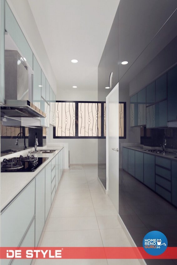 Contemporary, Modern Design - Kitchen - Landed House - Design by De Style Interior Pte Ltd