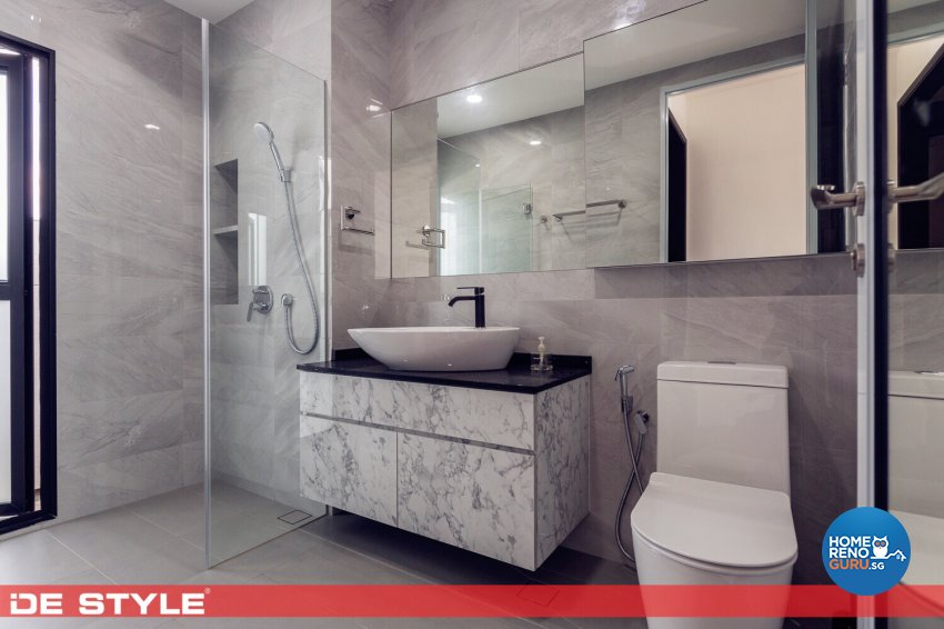 Contemporary, Modern Design - Bathroom - Landed House - Design by De Style Interior Pte Ltd