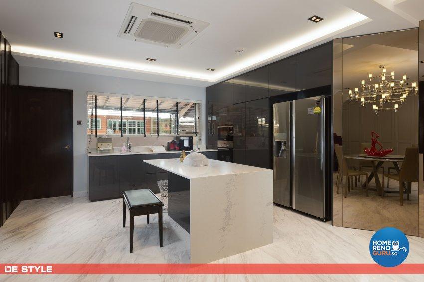 Contemporary, Modern Design - Kitchen - Landed House - Design by De Style Interior Pte Ltd