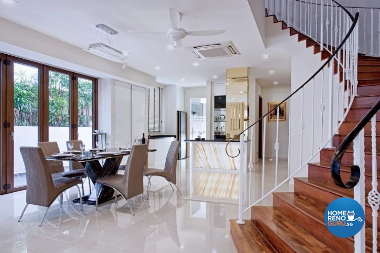 Contemporary, Modern Design - Dining Room - Landed House - Design by De Style Interior Pte Ltd