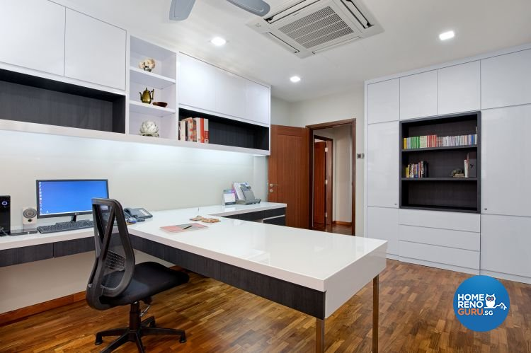 Contemporary, Modern Design - Study Room - Landed House - Design by De Style Interior Pte Ltd