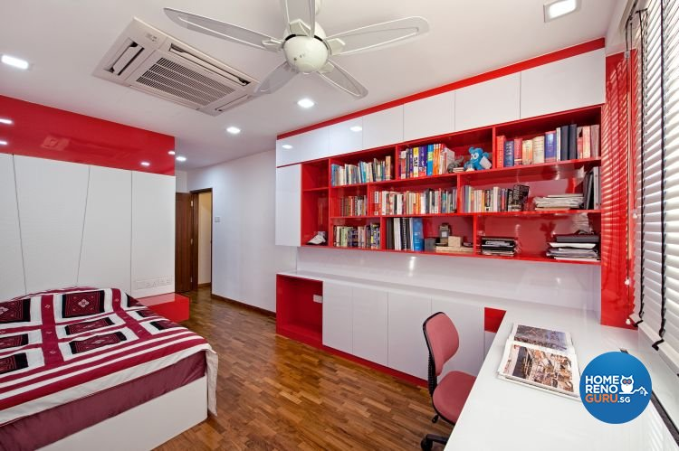 Contemporary, Modern Design - Bedroom - Landed House - Design by De Style Interior Pte Ltd