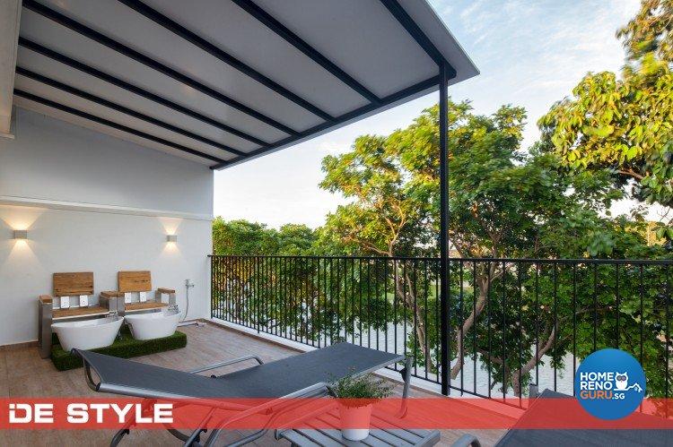 Minimalist Design - Balcony - Landed House - Design by De Style Interior Pte Ltd