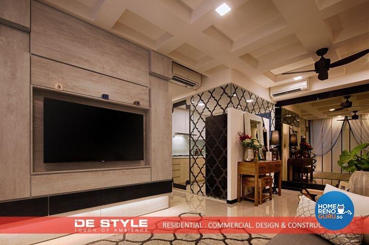 Rustic, Vintage Design - Living Room - Condominium - Design by De Style Interior Pte Ltd