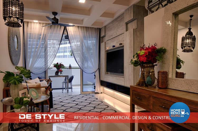 Rustic, Vintage Design - Living Room - Condominium - Design by De Style Interior Pte Ltd