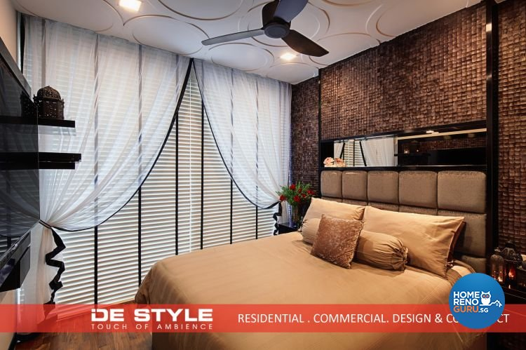 Rustic, Vintage Design - Bedroom - Condominium - Design by De Style Interior Pte Ltd