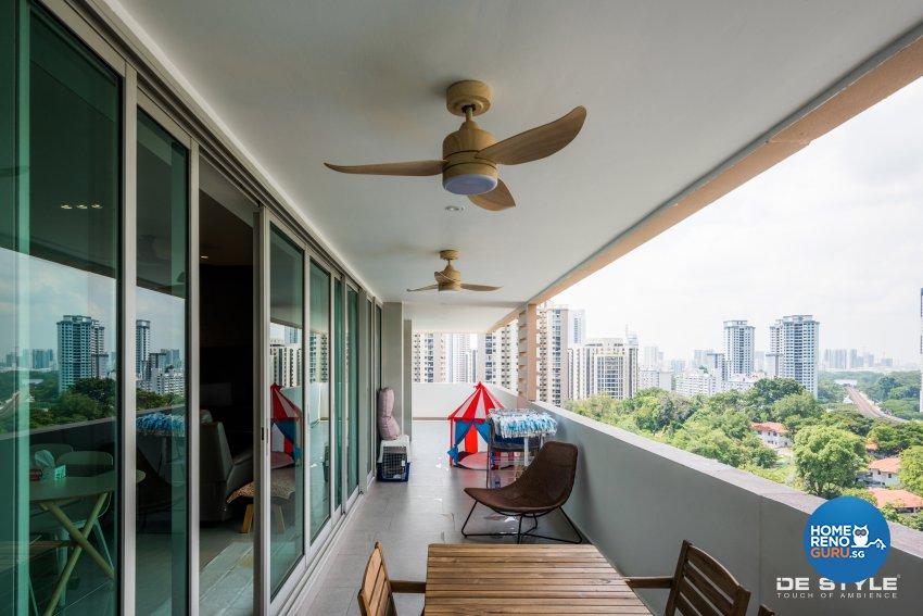 Minimalist, Modern Design - Balcony - Condominium - Design by De Style Interior Pte Ltd