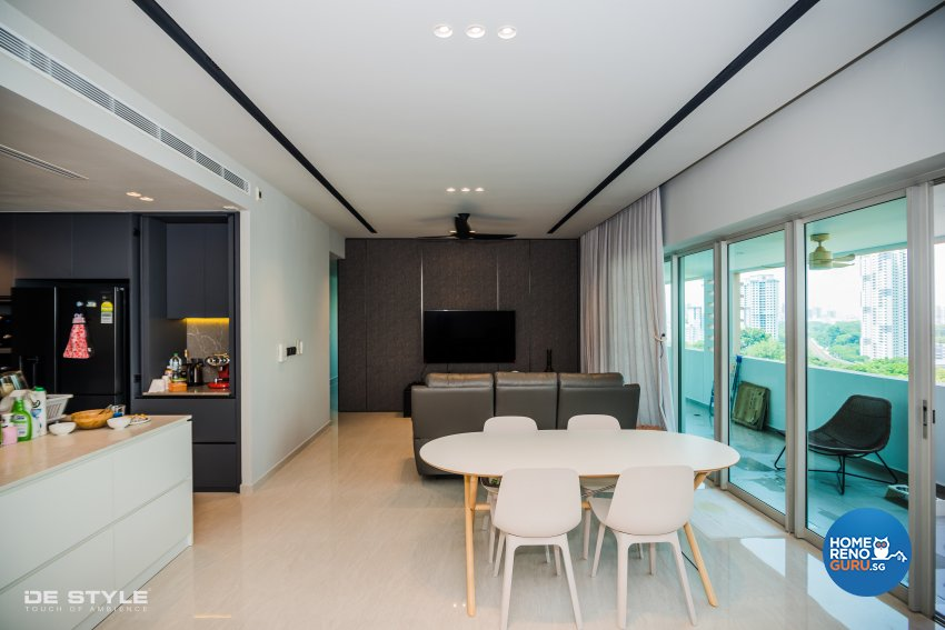 Minimalist, Modern Design - Living Room - Condominium - Design by De Style Interior Pte Ltd